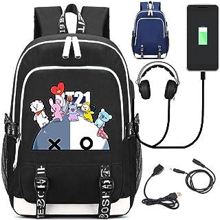 JUSTGOGO KPOP BTS Bangtan Boys Backpack Daypack Laptop Bag College Bag School Bag Bookbag with USB