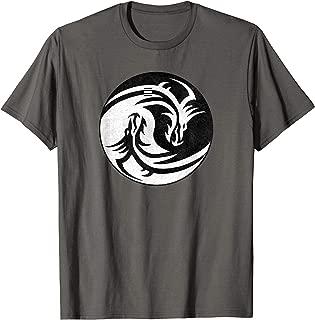 RPG Yin Yang Dragons | D20 Tabletop Role Playing Game T-Shirt