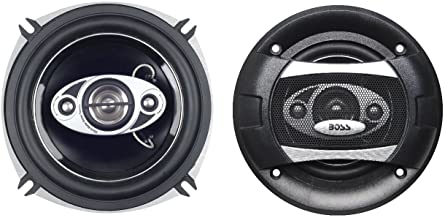 BOSS Audio Systems P55.4C 300 Watt Per Pair, 5.25 Inch, Full Range, 4 Way Car Speakers Sold in Pairs