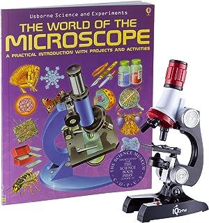 IQCREW 1200X Kids Microscope Toy Set with Slides Preparation Kit + Microscope Book