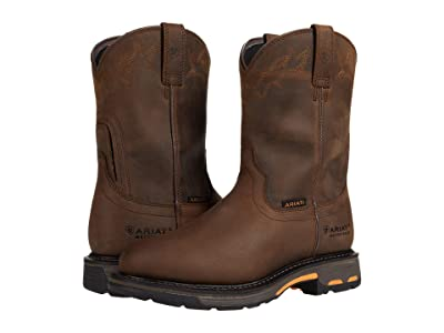 Ariat Workhog Waterproof (Oily Distressed Brown) Men
