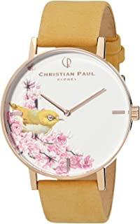 Christian Paul Women GSR4317 Year-Round Analog Quartz Yellow Watch