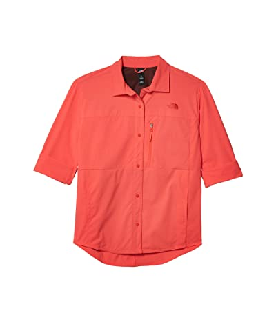 The North Face Outdoor Trail Long Sleeve Shirt (Cayenne Red) Women