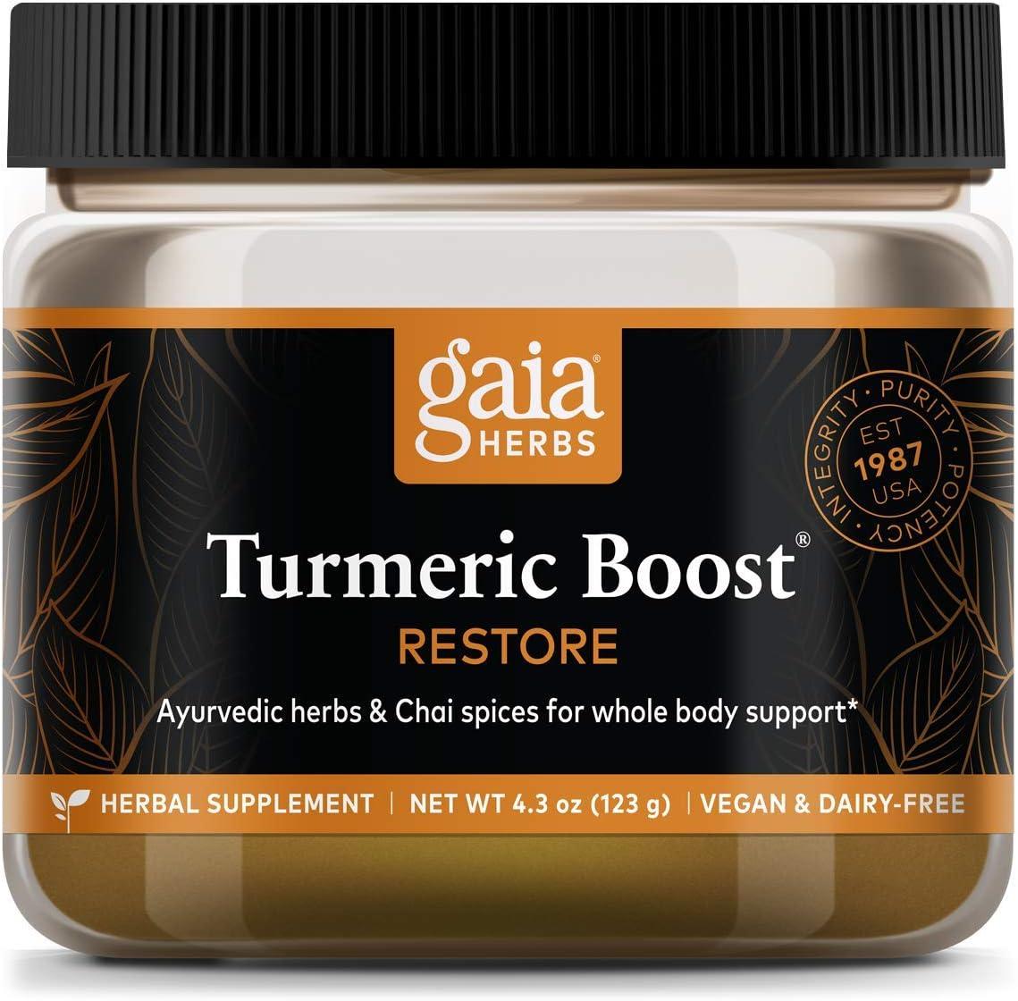 Gaia Herbs Turmeric Boost Ranking TOP12 Ounce Fashion Restore 4.3
