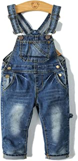 Child Big Bibs Front Soft Slim Jeans Overall
