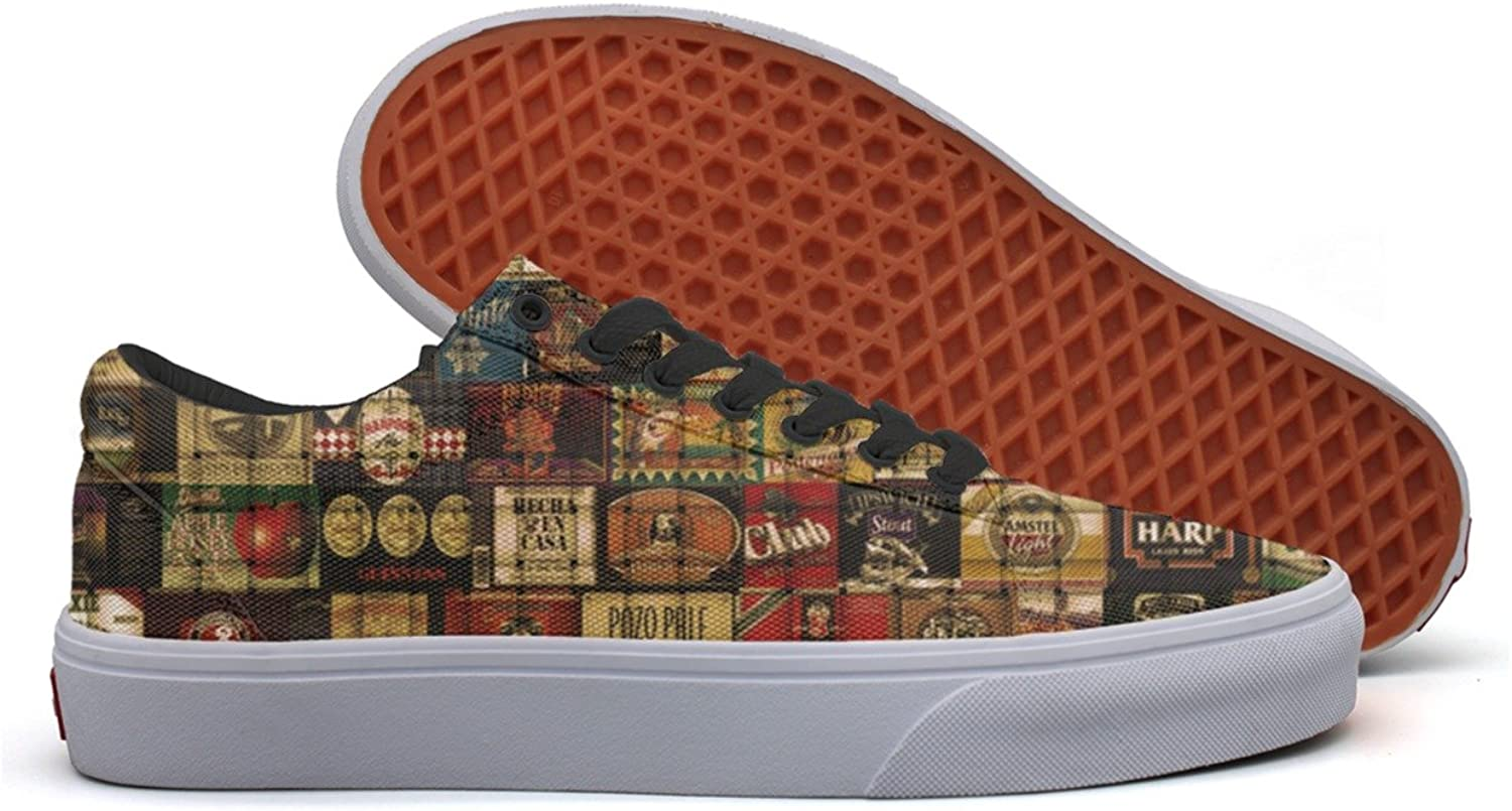 Beer Label Women's Casual Sneakers shoes Boat Classic Spring Trainers