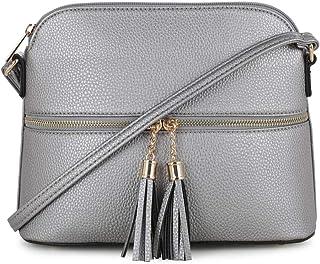 f0a4b9b09787 Amazon.com  Silvers - Crossbody Bags   Handbags   Wallets  Clothing ...