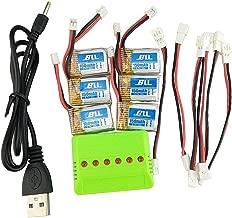 Fytoo 6pcs 3.7v 150mAH Lipo Batería & 6 en 1 Cargador & 6pcs Cable de Conversión para JJRC H36 Eachine E010 NIHUI NH010 Drone