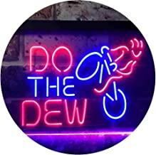 """ADVPRO Do The Dew Mountain Bike Dual Color LED Neon Sign Blue & Red 12"""" x 8.5"""" st6s32-i3394-br"""