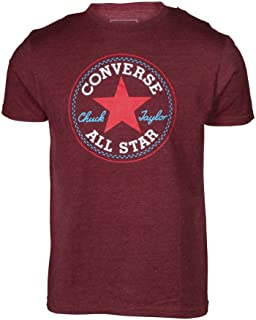 Converse Men's Distressed Core Patch Crew Tee Maroon