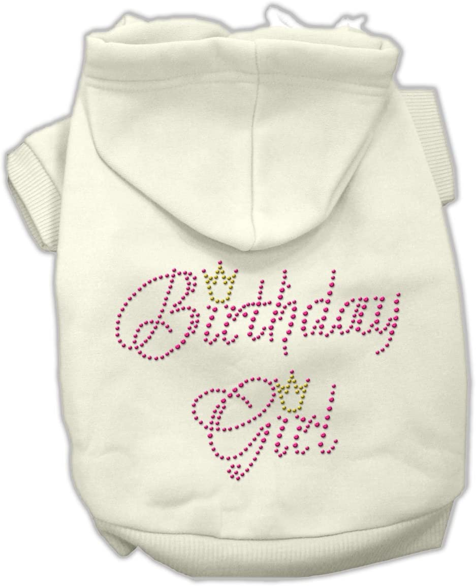 Mirage Pet Products 10-Inch Birthday Hoodies Special sale item Online limited product Cream Small Girl