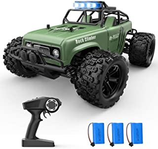 Holyton Remote Control Car, RC Cars 48KM/H High Speed with 3 Batteries 60 Min Play, 4WD All Terrains Off Road Monster Truc...