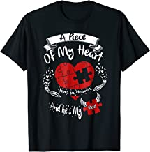 A piece of my heart lives in heaven and he is my Dad t-shirt