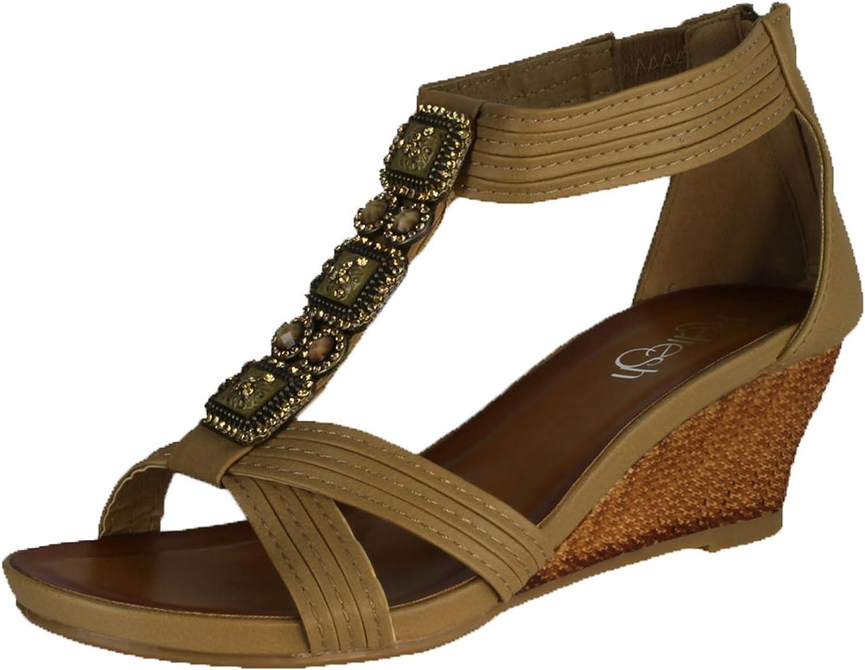 Refresh Women's Ginny-10 Wedge Sandals