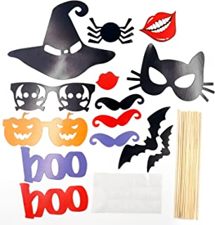 TRIXES 14 Piece DIY Halloween Photo Booth Props Witches Hat