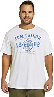 TOM TAILOR Men+ Plussize Logo Camiseta para Hombre