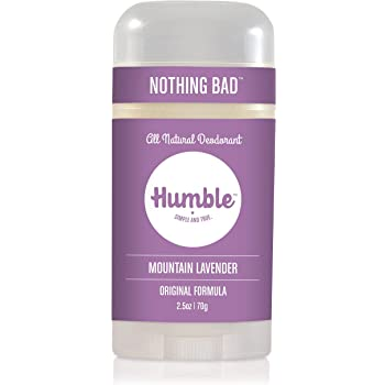 Humble Brands All Natural Aluminum Free Deodorant Stick for Women and Men, Lasts All Day, Safe, and Certified Cruelty Free, Mountain Lavender, Pack of 1