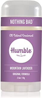 Humble Brands All Natural Aluminum Free Deodorant Stick for Women and Men, Lasts All Day, Safe, and Certified Cruelty Fre...