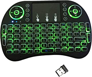Mihua&Tech I8 2.4GHz 3-color Mini Wireless Backlit LED Portable Keyboard Touchpad&QWERTY Remote Control for Desktop/Androi...