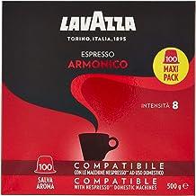 Lavazza Armonico Dark Roast Coffee Capsules Compatible with Nespresso® Original* Machines (Pack of 100)