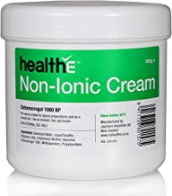 healthE - Non-Ionic (Cetomacrogol 1000 BP) Cream - Suitable for Sensitive Skin, Eczema, Dermatitis and Psoriasis (500g Pot)