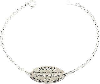 17a0ed14 Amazon.es: pulseras personalizadas plata