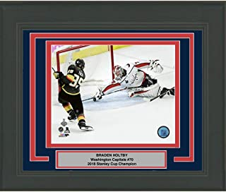 Framed Braden Holtby Save Game 4 Washington Capitals 2018 Stanley Cup Champions 8x10 Hockey Photo Professionally Matted #2