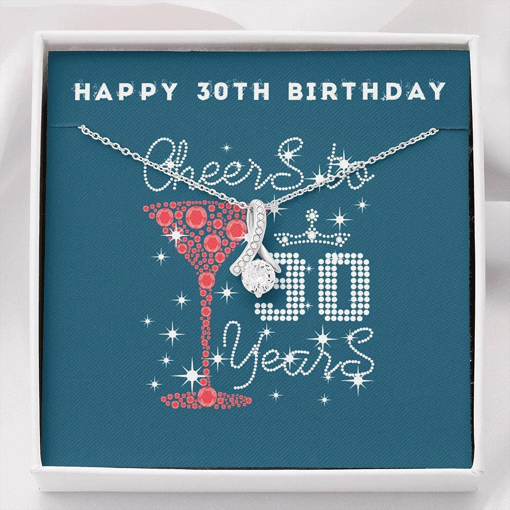 Happy 30th Birthday Wish Outlet sale feature Daught for Gift Outstanding Necklace