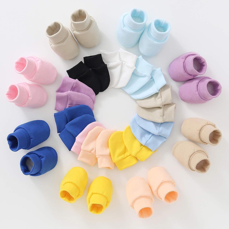 Durio Baby Mittens Newborn Cute Baby Boy Girl Mittens Super Soft Newborn Hats for Boys Girls Cotton Baby Hats and Mittens
