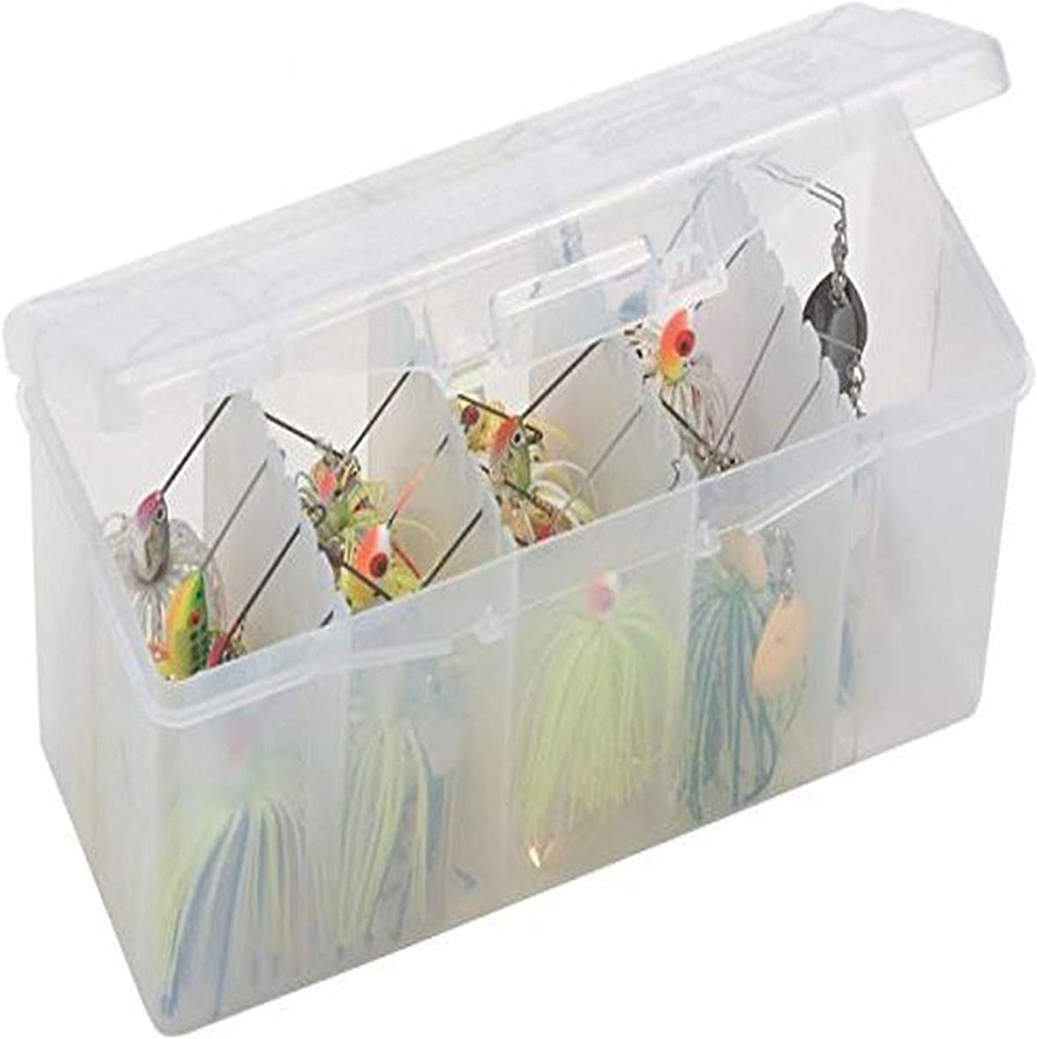 Plano 5 Slot Lure Container With Assorted Lures From Wigstons Lures