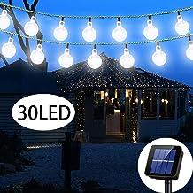 Solar String Light 8 MODEL 20 ft 30LED Globe Outdoor String Light Lighting for Indoor Christmas Home Patio Lawn Garden Wed...
