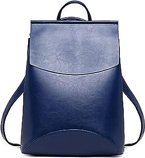Fashion PU Leather Backpacks for Teenage Girls Female School Shoulder Bag Bagpack mochila,Deep Blue