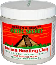 Aztec Secret 100% pure Indian Healing Clay Facial Deep Pore Cleansing Bentonite Mask, 454g