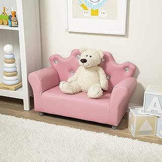 Melissa & Doug Child's Crown Sofa - Pink Faux Leather Children's Furniture