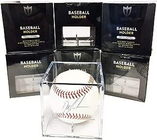Max Pro 12 Square Ultra Premium Baseball Display Holder w/Stand UV Protection New Lot Set (12 Baseball Cube Bundle)