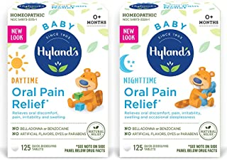 Hyland's Baby Day & Night Oral Pain Relief Tablets Bundle with Chamomilla, Soothing Natural Relief of Oral ...