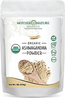 Pure Organic Ashwagandha Powder - 16 Ounce Bag - Non-GMO - Perfect for Smoothies - 100% Raw from India - Adaptogenic Ayurv...