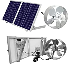 ECO-WORTHY 25W Solar Powered Attic Ventilator Gable Roof Vent Fan with 30W Foldable Solar..