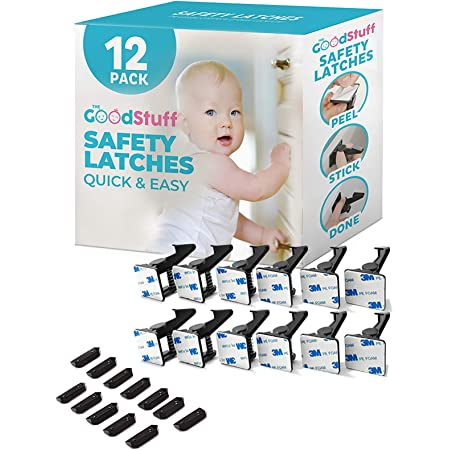Cabinet Locks Child Safety Latches - Quick and Easy Adhesive Baby Proofing Cabinets Lock and Drawers Latch - Child Safety with No Magnetic Keys to Lose, and No Tools, Drilling or Measuring Required