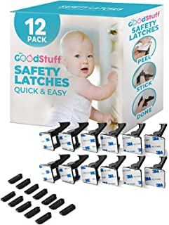 Cabinet Locks Child Safety Latches - Quick and Easy Adhesive Baby Proofing Cabinets Lock and Drawers Latch - Child Safety ...