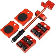 Jroyseter 5 Stück Möbelheber Möbel Mover Transportset Möbeltransportheber Werkzeug Set Professionelle schwere Möbelverschiebung Hebewerkzeuge Gleitrad Werkzeugsatz