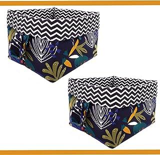 Boîte à panier pliante en tissu cube pour jouets, boîte en tissu pour vêtements, accessoires électroniques, livres, cosmét...