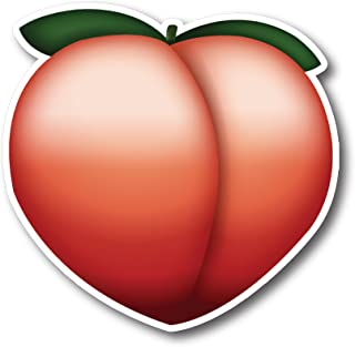 Peach Emoji Magnet Decal Perfect for Car or Truck