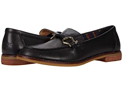 Sperry Seaport Penny PlushWave Shackle Leather (Black) Women