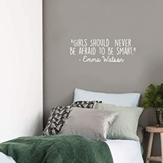Vinyl Wall Art Decal - Girls Should Never Be Afraid to Be Smart - 10.5