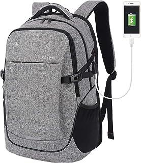 Hanke laptopryggsäck 15,6 tum affärsresor bärbar dator ryggsäck med regnskydd, lätt högskola ryggsäck med en USB-laddnings...
