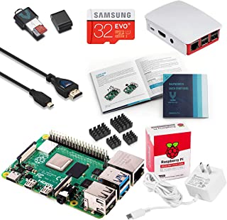 Vilros Raspberry Pi 4 Complete Starter Kit with Official Case (Red/White) 4GB