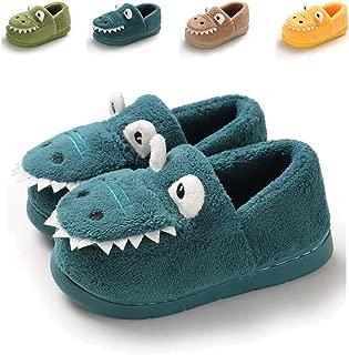 Sakuracan Toddler Boys Girls House Slippers Cartoon Dinosaur Warm Home Shoes Indoor Bedroom