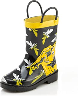 Hasbro Transformers Bumblebee Boys Waterproof Easy-On Rubber Rain Boots