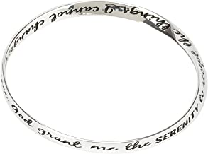 Dicksons Inspirational Women`s One Size Silver-Plated Wide Mobius Twist Bracelet